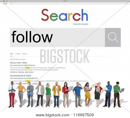 Follow Followers Following Share Sharing Social Concept