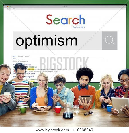 Optimism Positive Thinking Attitude Outlook Concept