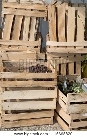 Distribution Warehouse For Fruits And Vegetables With Crates