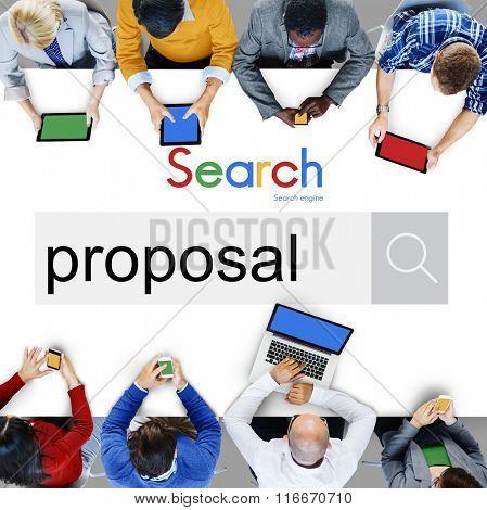 Proposal Proposition Asking Scheme Suggestion Concept