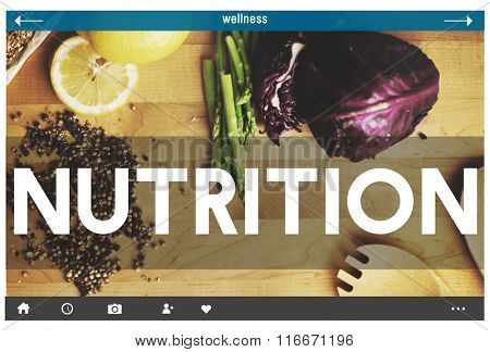 Eat Well Nutrition Healthy Food Organic Concept