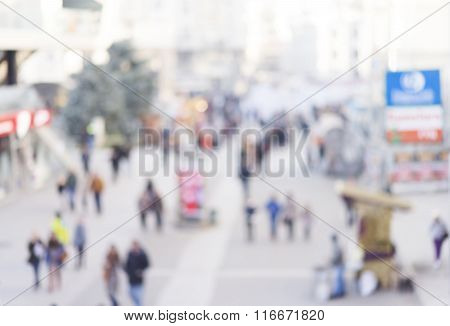 blur abstract people background