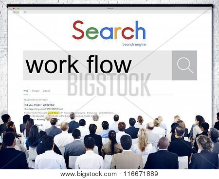 Workflow Work Steps Productive Effective Business Concept