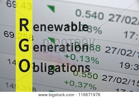 Renewable Generation Obligation