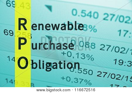 Renewable Purchase Obligation