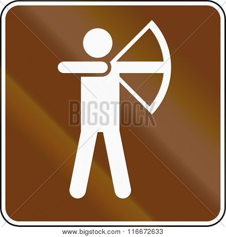 United States Mutcd Guide Road Sign - Archery