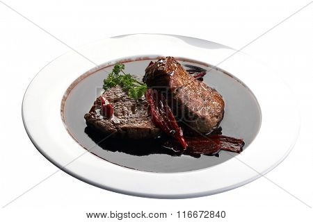 filet mignon in wine sauce