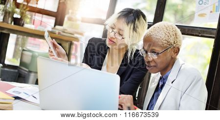 Businesswoman Collaboration Corporate Success Concept