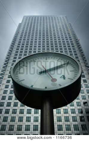Clock And Building