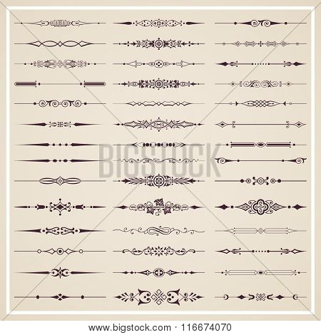 Page dividers - vector set
