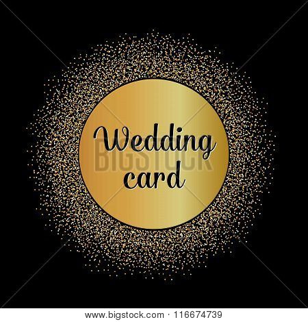 Abstract Creative concept vector design layout with text - wedding card. For web and mobile icon iso