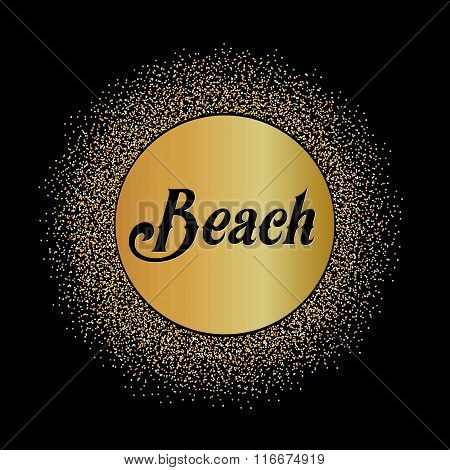 Abstract Creative concept vector design layout with text - beach. For web and mobile icon isolated o