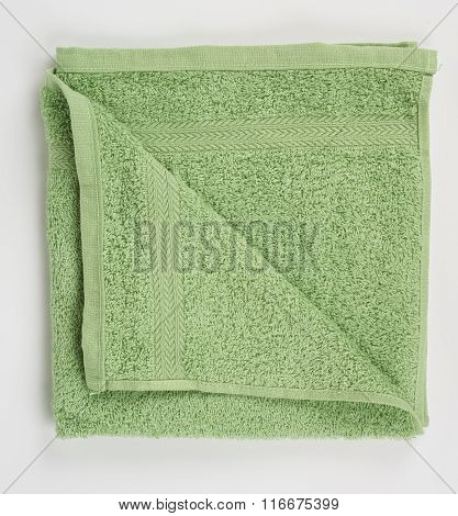 Green Terry Towel