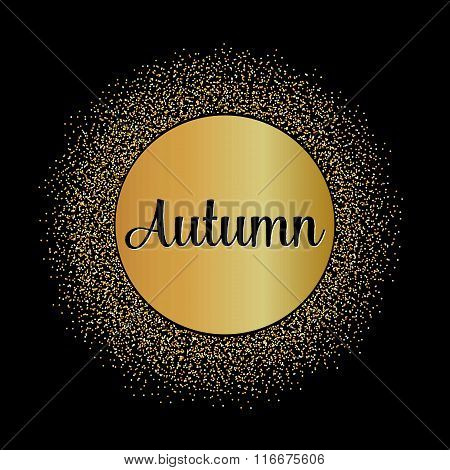 Abstract Creative concept vector design layout with text - autumn. For web and mobile icon isolated