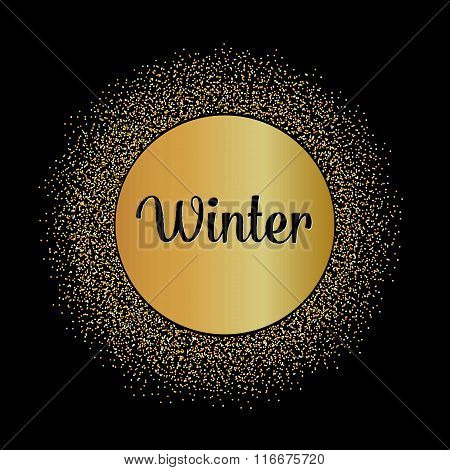 Abstract Creative concept vector design layout with text - winter. For web and mobile icon isolated