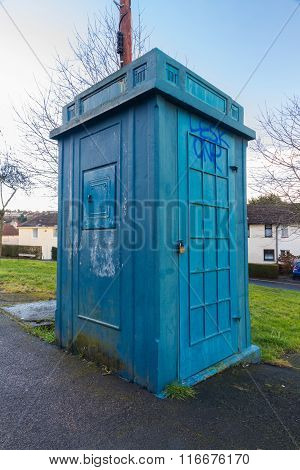 Police Public Call Box, Nicknamed The Newport Tardis.