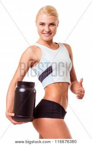 Beautiful Strong Sportswoman
