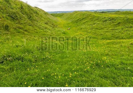 Ditch Badbury Rings Iron Age Hill Fort