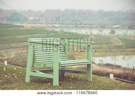 Wooden Chair In Garden