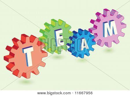 gears as team work metaphor