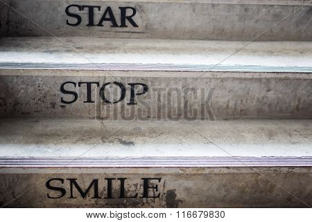 Staircase With Concept Life Word