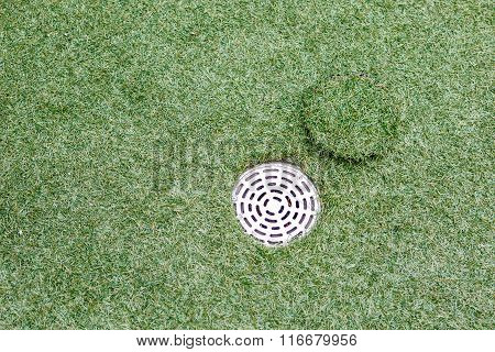 Artificial Grass With Drain Water