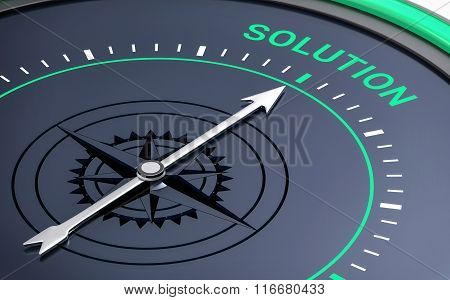 3D Compass. Solution Word