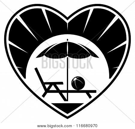 Beach Umbrella And Deck Chair