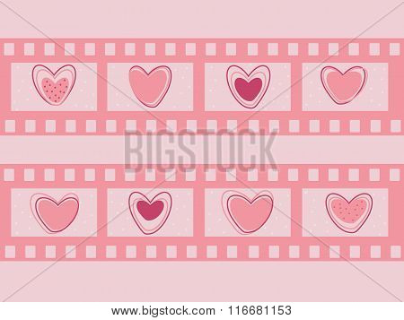 Valentine's day film strip