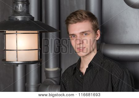 Portrait Of A Young Man With A Lantern