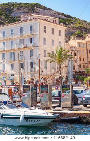 Embankment Of Resort Town Of Corsica Island In Summer