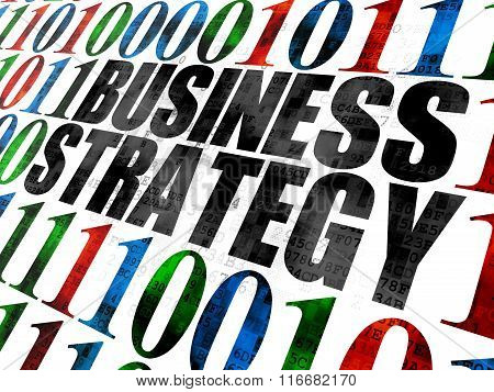 Business concept: Business Strategy on Digital background