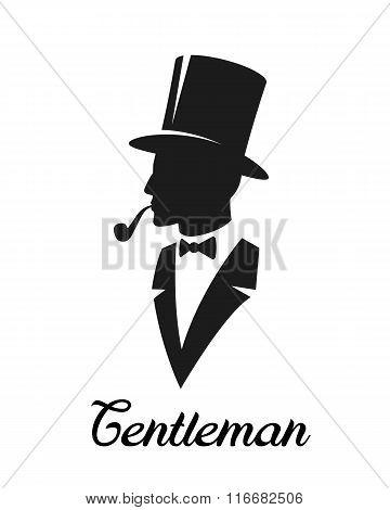 Gentlemen silhouette logo