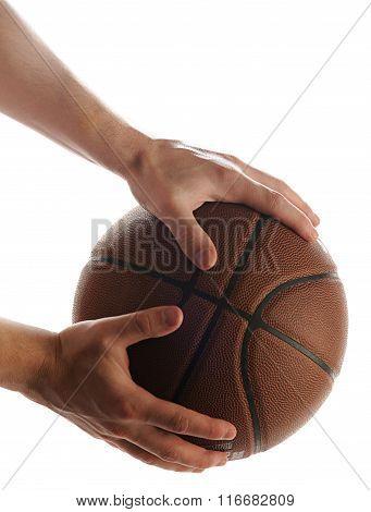Hold Basketball Ball