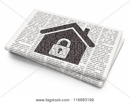 Business concept: Home on Newspaper background