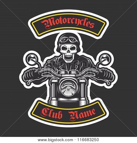 Classic biker embroidery