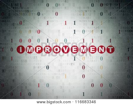 Finance concept: Improvement on Digital Paper background