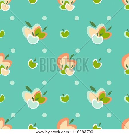 Apple vector pattern