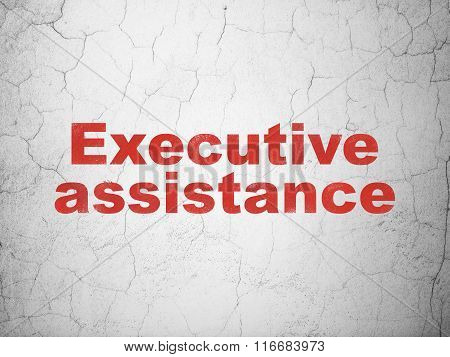 Finance concept: Executive Assistance on wall background
