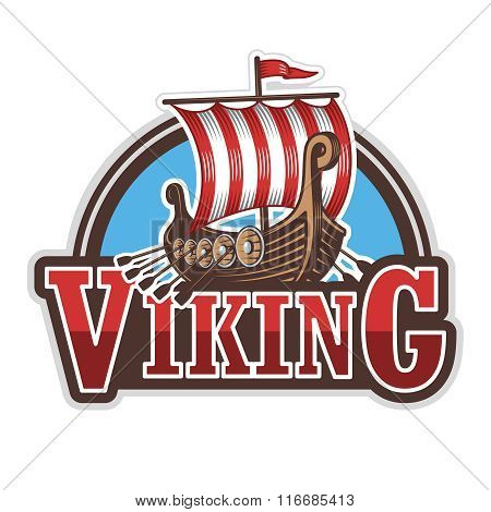 Viking ship sport logo