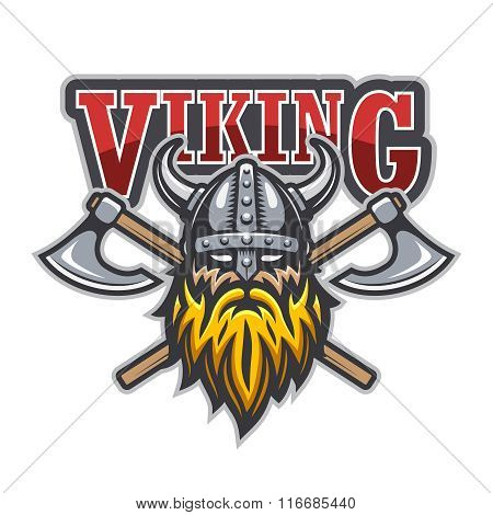 Viking warrior sport logo