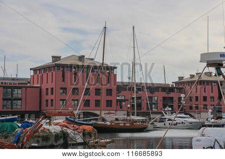 Genoa Port, Italy.