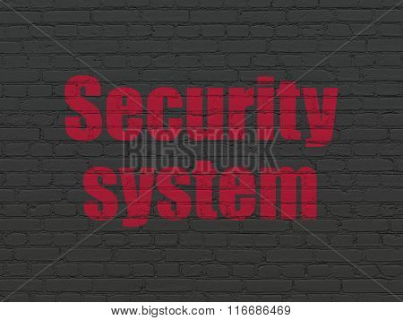 Safety concept: Security System on wall background