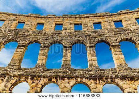 Roman Amphitheatre Pula Arena-pula,istria, Croatia