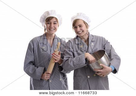 Two Young Apprentice Cooks