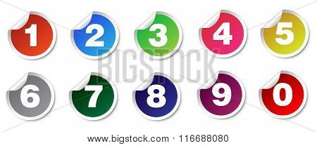 Number Set Stickers