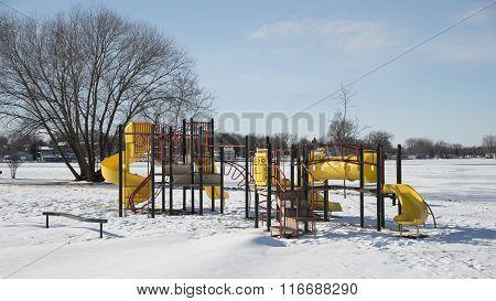 Playground Equipment In Winter