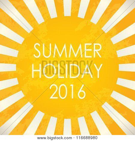 Summer Background - 2016, Vector Illustration, Eps10