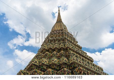 Beautifully decorated chedi, Thailand