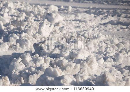 Snowplow Snow Pile